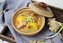 猪蹄这么做,清香美味无腥味|黄豆玉米焖猪蹄#洗手做羹汤#的做法