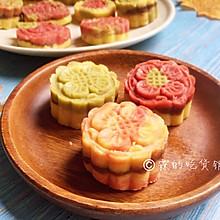 多彩豆沙绿豆糕