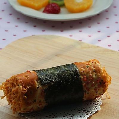 包着海苔的不一定就是寿司 还可以是 --- 料理面包卷
