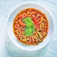 #花10分钟,做一道菜!#西红柿素三鲜的做法图解11