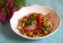 彩椒炒口蘑的做法