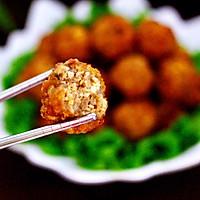 #新年开运菜,好事自然来#团团圆圆的香炸猪肉豆腐丸子的做法图解18