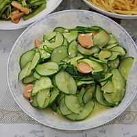 黄瓜炒火腿