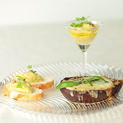 小薇de美食|味噌奶酪焗茄夹