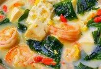 虾仁煎蛋裙带菜豆腐汤的做法