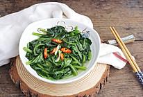 #花10分钟,做一道菜!#清炒木耳菜的做法