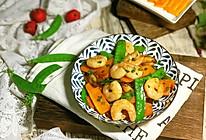 #精品菜谱挑战赛#南瓜荷兰豆炒虾仁的做法