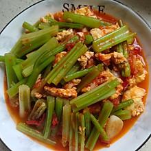 西红柿鸡蛋炒芹菜---助力高考营养餐