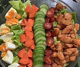 鸡丁蔬菜沙拉的做法