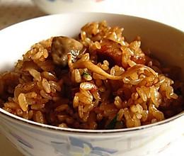 菌菇饭的做法