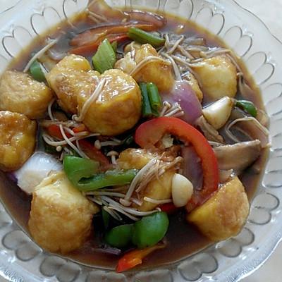 金菇玉子豆腐