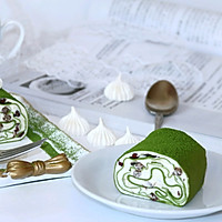 #柏翠辅食节_烘焙零食#抹茶蜜豆毛巾卷的做法图解27
