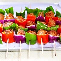 #一人一道拿手菜#时蔬孜然烤鸡肉串的做法图解10