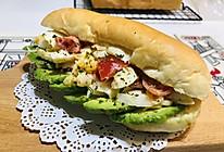 蟹肉棒色拉牛油果汉堡的做法