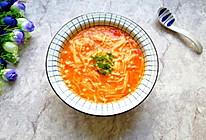 番茄金针菇浓汤#洗手作羹汤#的做法