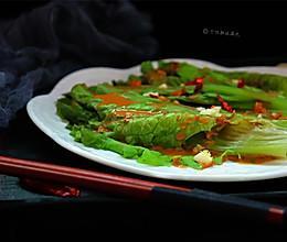 #精品菜谱挑战赛#蒜蓉芝麻酱淋生菜的做法