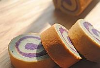 紫薯戚风蛋糕卷#沃康山茶油#的做法