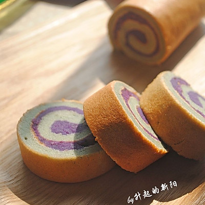 紫薯戚风蛋糕卷