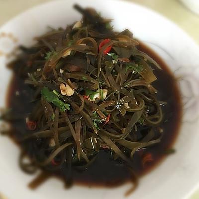 凉拌海带(家常菜)