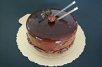 巧克力镜面慕斯蛋糕