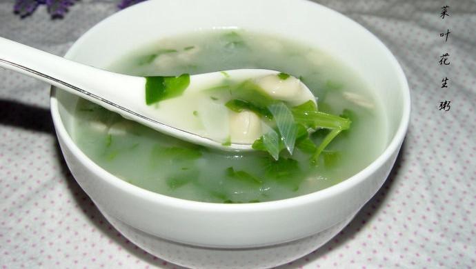 芹菜叶花生米粥