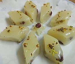 好切还细腻的蜜豆桂花糕的做法