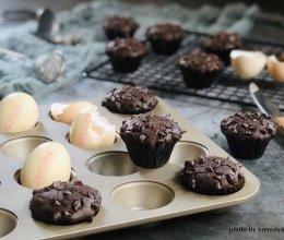 """#2021亲子烘焙组——""""焙""""感幸福#蘑菇头巧克力麦芬蛋糕的做法"""