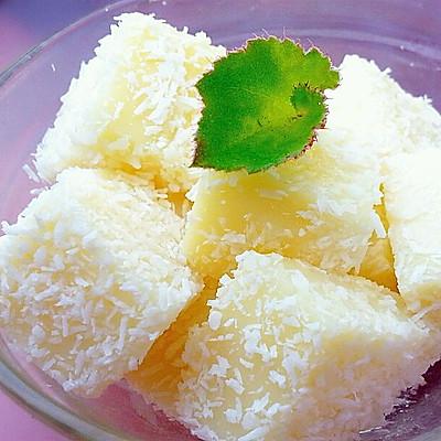 简单方便好吃的椰丝牛奶小方(消耗牛奶,淡奶油)