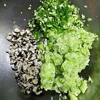 圆白菜香菇素饺子,减肥,健身者的美食的做法图解7