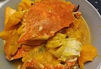 飞蟹炖南瓜的做法