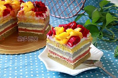 彩虹蛋糕(六寸方形)