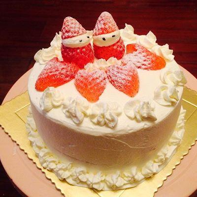 生日蛋糕(抹茶戚风蛋糕胚、水果夹心)