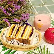 #父亲节,给老爸做道菜# 紫薯肉松三明治