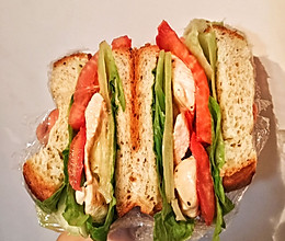 减肥必备——鸡胸肉三明治(超快手)的做法