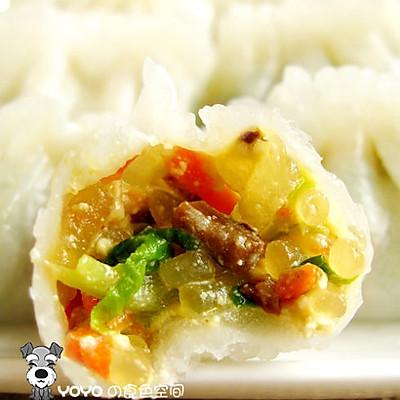 水晶素菜饺