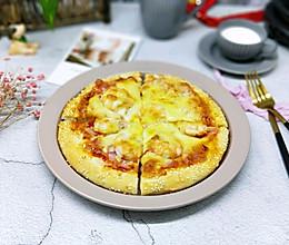 #馅儿料美食,哪种最好吃#虾仁培根披萨的做法