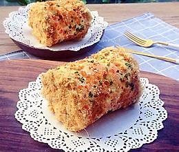 香葱肉松蛋糕卷#烘焙梦想家(华东)#的做法
