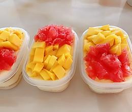 芒果西柚慕斯盒子的做法