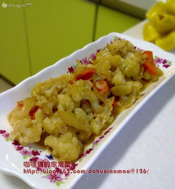 虾皮烩菜花的做法