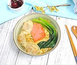 火腿饺子汤面的做法