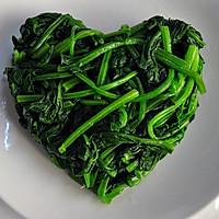 肉末菠菜的做法图解2