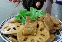 藕炒肉片的做法