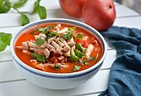 #母亲节,给妈妈做道菜# 番茄蘑菇肉片汤的做法