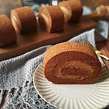 #晒出你的团圆大餐#甘纳许巧克力毛巾蛋糕卷