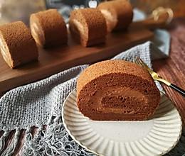 #晒出你的团圆大餐#甘纳许巧克力毛巾蛋糕卷的做法