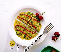 生菜小银鱼蛋饼的做法