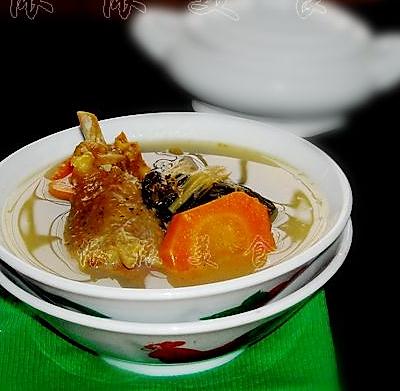 腊鸭菜干汤