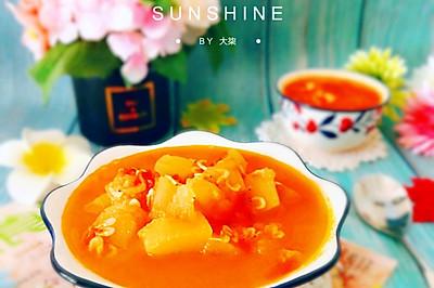 冬瓜番茄虾米汤