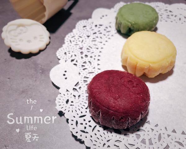 【冰】卡通奶黄冰皮月饼的做法
