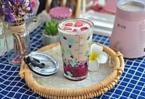 #夏日撩人滋味#火龙果红豆奶茶的做法
